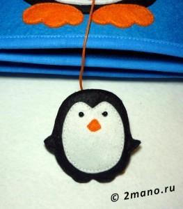 развивающая книжка фетр пингвиненок