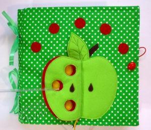 развивающая книжка зеленое яблоко